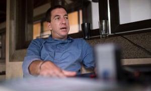 Glenn Greenwald at his home in Rio.