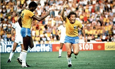 Zico in the 1982 World Cup Finals