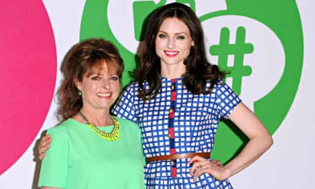 Janet Ellis and Sophie Ellis-Bextor in bright clothes and smiles to match