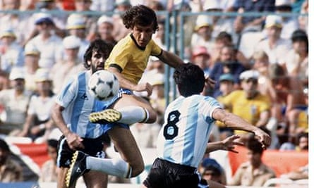 Brazil versus Argentina in the 1982 World Cup