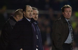 Tottenham managers: George Graham watches his last match in charge of Tottenham