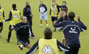 Tottenham managers: David Pleat takes charge of his first training session of Tottenham Hotspur