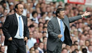 Tottenham managers: Jacques Santini during his first league match in charge against Liverpool