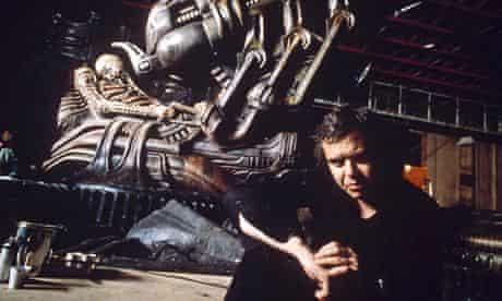 HR Giger on set in 1993.