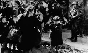Nazis Arresting Jews in the Warsaw Ghetto. Over half of respondents did not know about the Holocaust.