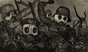Otto Dix's Stormtroops Advancing Under a Gas Attack, from Der Kreig