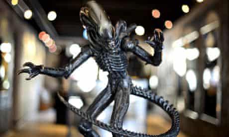 Alien sculpture HR Giger museum, Switzerland
