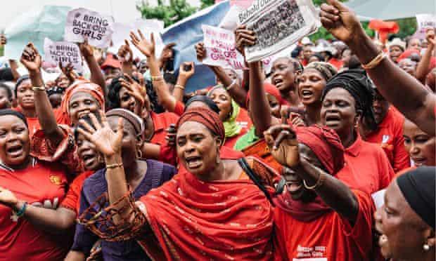 Nigeria protest over kidnapped schoolgirls