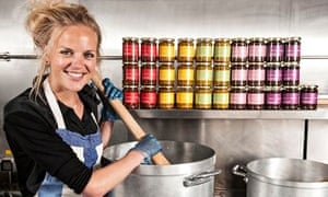 Jenny Dawson, founder of Rubies in the Rubble, stirring something in a big pot