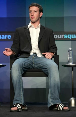Mark Zuckerberg, founder and CEO of Facebook early adopter of the pool sliders trend