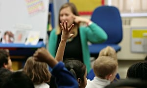 Teacher with children in a classroom