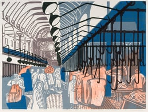 Smithfield Market, 1967, lithograph after linocut.