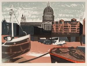 St Paul's, 1958, colour autolithograph.