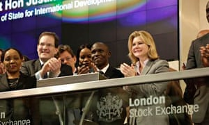 justine greening stock exchange