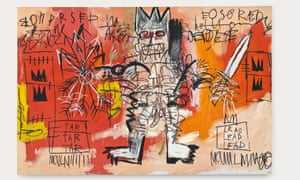 An untitled 1981 painting by Jean-Michel Basquiat was up for sale at Christie's on Tuesday.