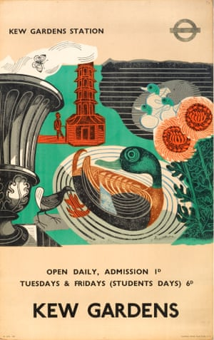 Poster for the London Passenger Transport Board Kew Gardens, 1936, lithograph after linocut.