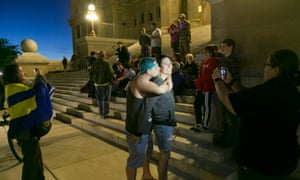 Same-sex Idaho couples celebrate in Boise.