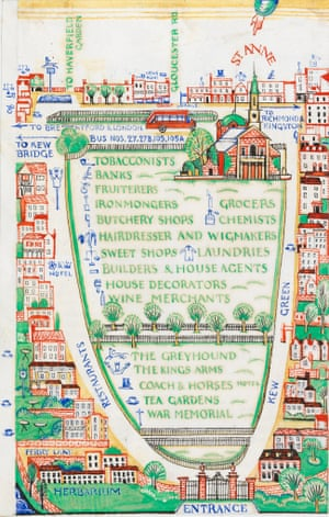 Detail from A General Guide to the Royal Botanic Gardens Kew, Spring & Easter 1923.
