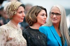 Jury members Leila Hatami, Sofia Coppola and Jury President Jane Campion