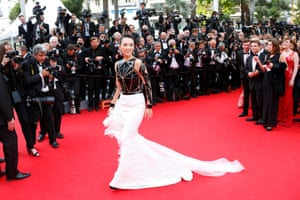 Actress Zhang Ziyi poses on the red carpet
