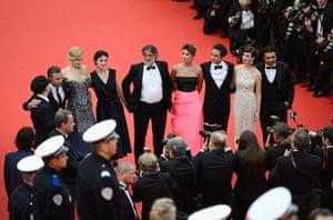 (L-R) Director Olivier Dahan, actors Tim Roth, Nicole Kidman, Jeanne Balibar, producer Pierre-Ange Le Pogam, guests, actress Paz Vega, screenwriter and producer Arash Amel