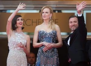 (L-R) Spanish actress Paz Vega, Australian actress Nicole Kidman and British actor Tim Roth