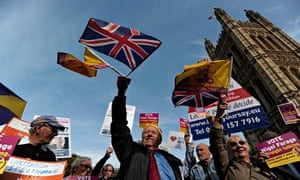 United Kingdom Independence Party (UKIP) supporters outside parliament.