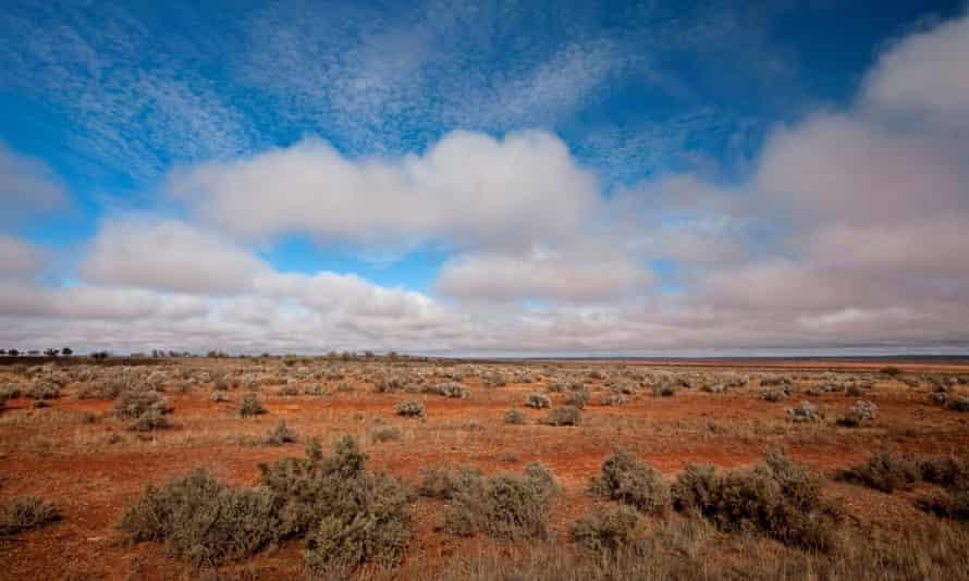 Australian outback landscape near Broken Hill, NSW Australia.