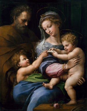 Holy Family with Saint John or Madonna of the Rose