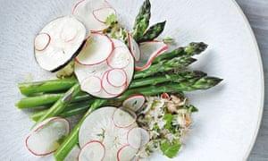 Jason Atherton's crab and asparagus salad with radishes