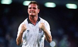 England's Paul Gascoigne