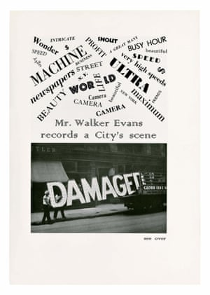 From 'Mr. Walker Evans records a City's scene', Creative Art, December 1930.