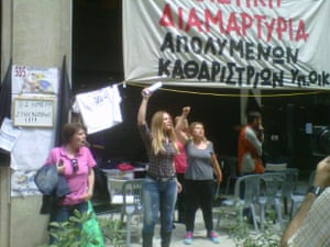 Protests in Athens, May 15 2014