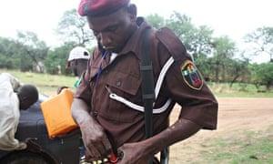 Bulus Mungo Park is a volunteer vigilante fighter defending Chibok