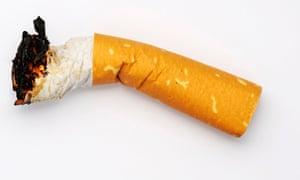 A cigarette butt