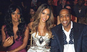 Solange, Beyonce and Jay Z in 1986 in, presumably, happier times.