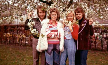 ABBA portrait in Denmark 1974