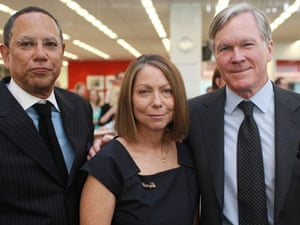 Jill Abramson with Dean Baquet, left, and former executive editor Bill Keller, right, in 2011.