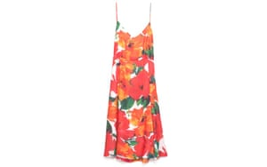 Summer dresses: 50 of the best summer dresses - orange red floral print sun dress by Zara