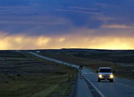 Heading east on Highway 20