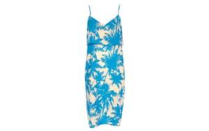 Summer dresses: 50 of the best summer dresses - blue palm print slip dress by River Island