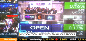 Open of Wall Street, May 16 2014