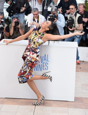 """Actress Rosario Dawson attends  """"The Captive"""" photocall at the 67th Annual Cannes Film Festival on May 16, 2014 in Cannes, France."""
