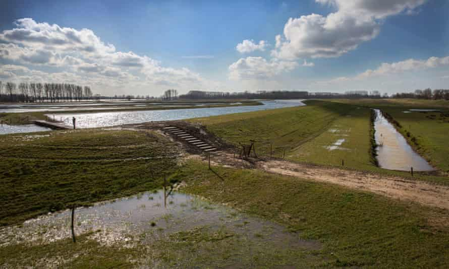 The Noordwaard polder is one of the key areas of the National Dutch project Ruimte voor de Rivier (Room for the River), Werkendam, 2 March 2014.