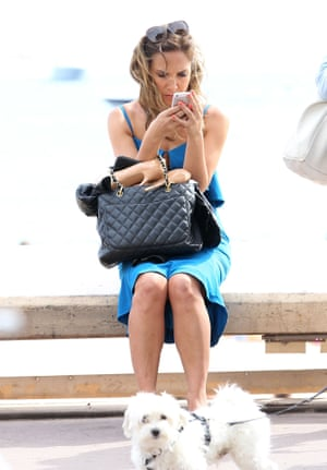 Myleene Klass is seen resting her feet on day 3 of the 67th Annual Cannes Film Festival on May 16, 2014 in Cannes, France.