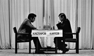 Chess Champions Gary Kasparov and Anatoliy Karpov