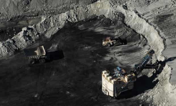 An open cut mine in the Hunter Valley near Newcastle