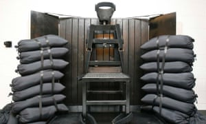 The firing squad execution chamber at the Utah State Prison in Draper, Utah