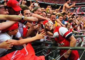 the cup final: Jack Wilshere