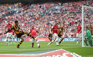 the cup final: Curtis Davies scores the second goal